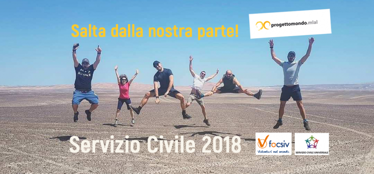 SALTA DALLA PARTE GIUSTA! Progettomondo.mlal fa largo a 23 giovani Caschi Bianco per un anno di Servizio Civile all'estero o in Italia
